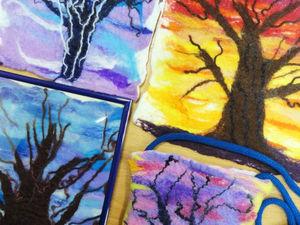 Детская студия валяния. Деревья и листья. Ярмарка Мастеров - ручная работа, handmade.