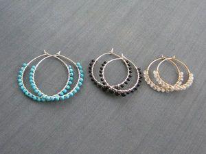 Серьги-кольца в моём магазине. Ярмарка Мастеров - ручная работа, handmade.