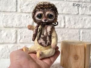 Тедди ёжик 1500р или предложи свою цену. Ярмарка Мастеров - ручная работа, handmade.
