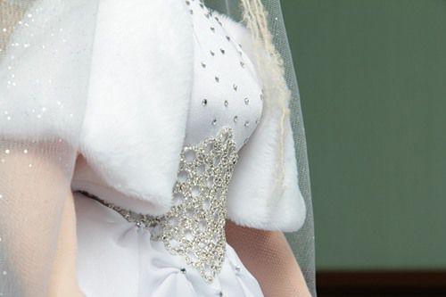 текстильная кукла, невеста