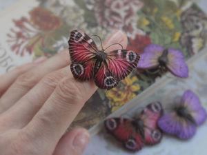 Бабочки-броши. Ярмарка Мастеров - ручная работа, handmade.