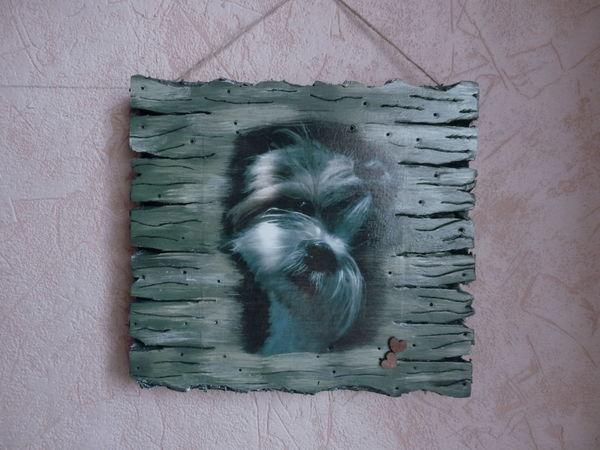 Новинка! Панно с вашим питомцем ( имитация дерева) | Ярмарка Мастеров - ручная работа, handmade