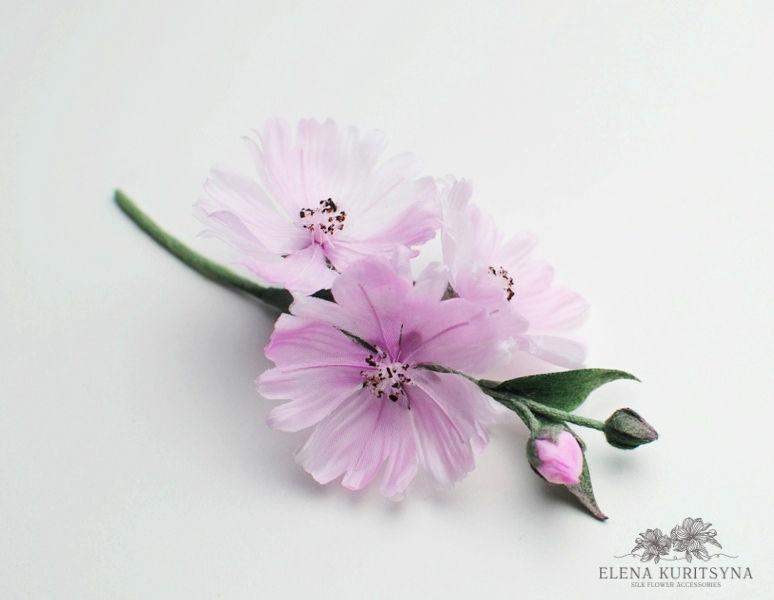 Цветы из шелка «Сидальцея», фото № 1