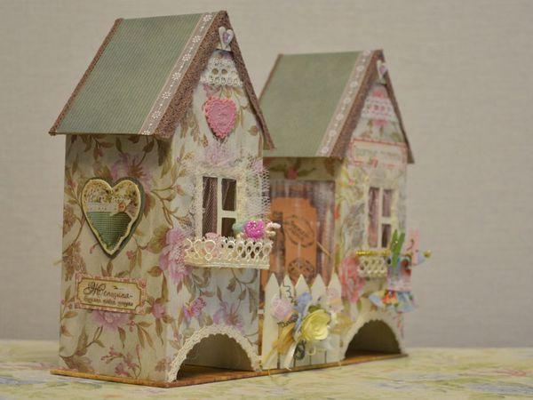 Мастер-класс: изготавливаем дуэт из чайных домиков с конфетницей | Ярмарка Мастеров - ручная работа, handmade