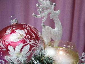 Подарочная композиция со свечой на раз, два, три. Ярмарка Мастеров - ручная работа, handmade.