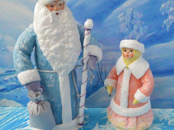 Дед Мороз и Снегурочка. | Ярмарка Мастеров - ручная работа, handmade