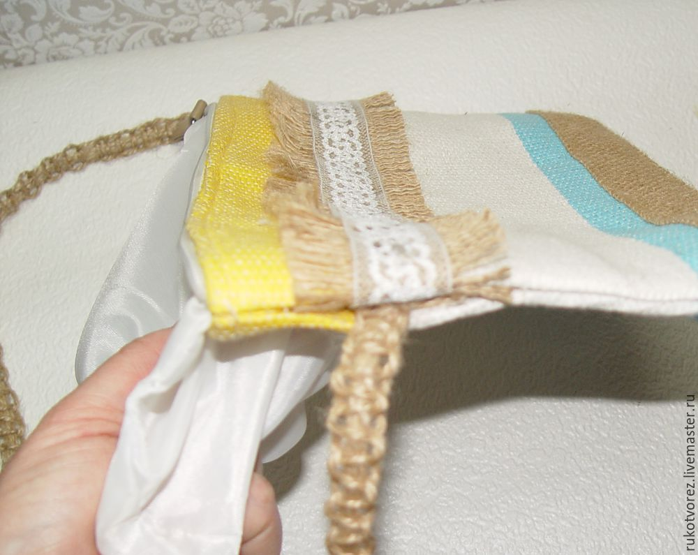 Переделываем летнюю косметичку в яркую сумочку, фото № 10
