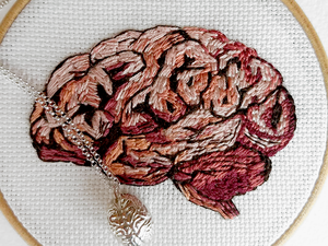 Занимательная анатомия, или Вышивка не для слабонервных от Julie Campbell. Ярмарка Мастеров - ручная работа, handmade.