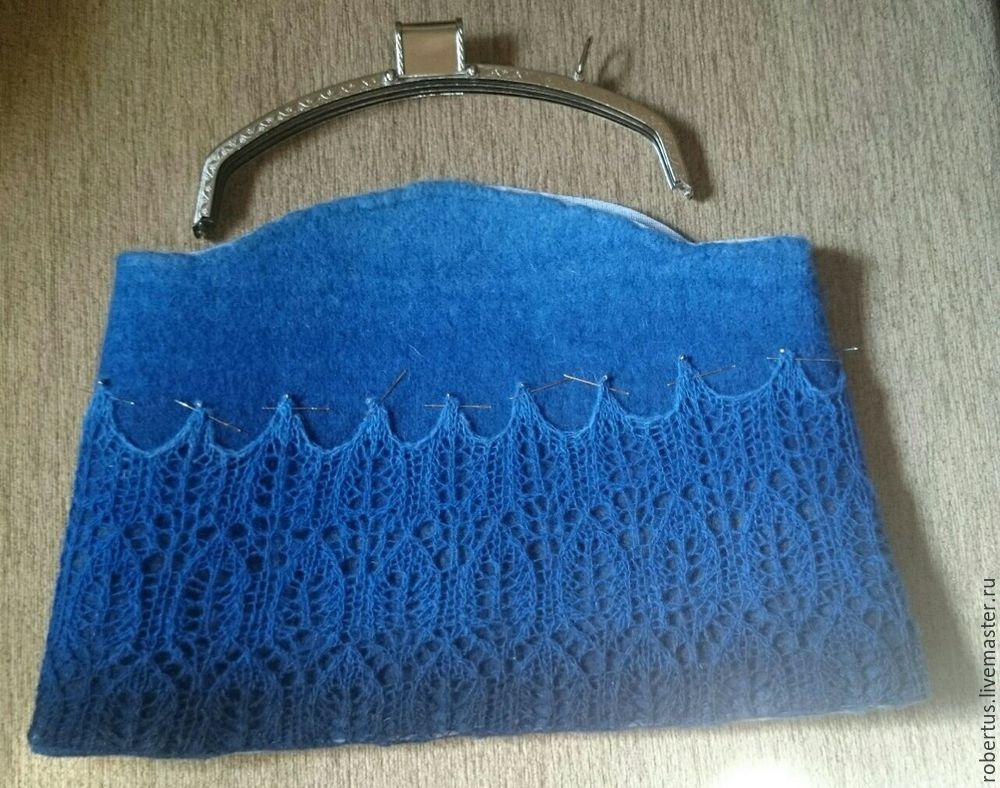 Мастер-класс: как сделать сумку с двойным фермуаром, фото № 17