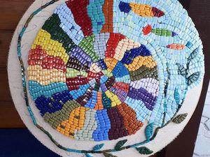 Декор стола в технике мозаики — начало работы. Ярмарка Мастеров - ручная работа, handmade.