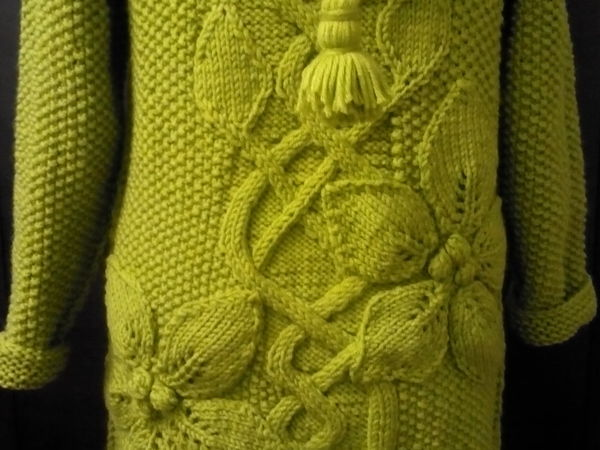 Пряжа на пальто с цветами, заказ | Ярмарка Мастеров - ручная работа, handmade