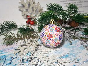 Новогодние цвета PEBEO. Роспись новогодних шаров | Ярмарка Мастеров - ручная работа, handmade