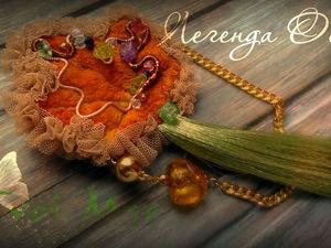 Текстильная брошь «Легенда Осени». Ярмарка Мастеров - ручная работа, handmade.