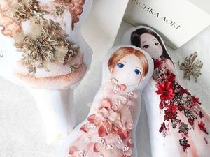 Personalized Dolls in Dresses by Mischka Aoki. Livemaster - handmade