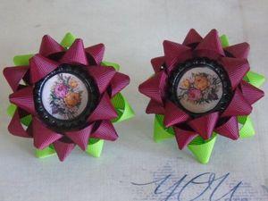 Видеоурок: как сделать бантик-звездочку канзаши по шаблону. Ярмарка Мастеров - ручная работа, handmade.