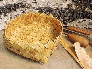 Плетем тарелку из бересты для сухого наполнения. Ярмарка Мастеров - ручная работа, handmade.