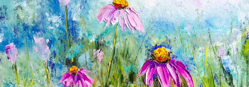 весенний шарф, картина маслом