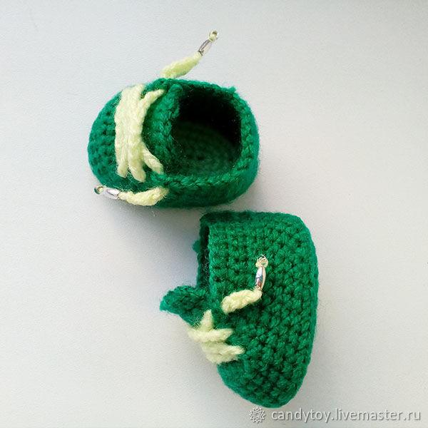 ботинки для куклы, вязание крючком