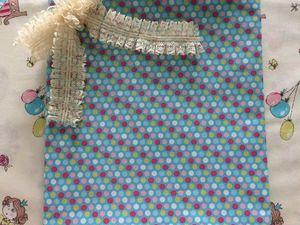 Перкаль Разноцветный горох на голубом. Ярмарка Мастеров - ручная работа, handmade.
