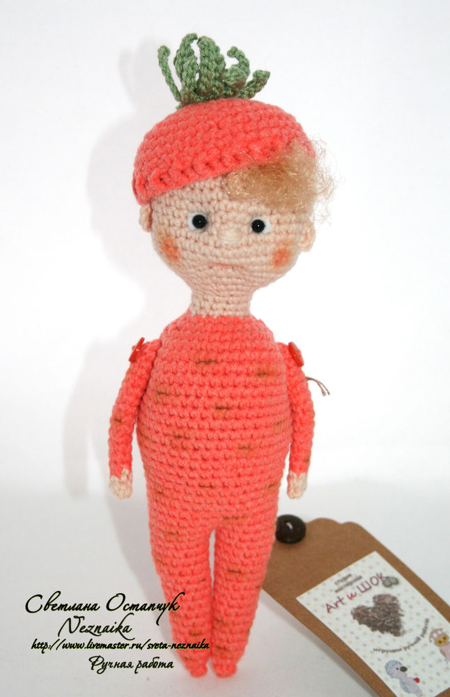 кукла ручной работы, игрушка ручной работы, вязаная игрушка