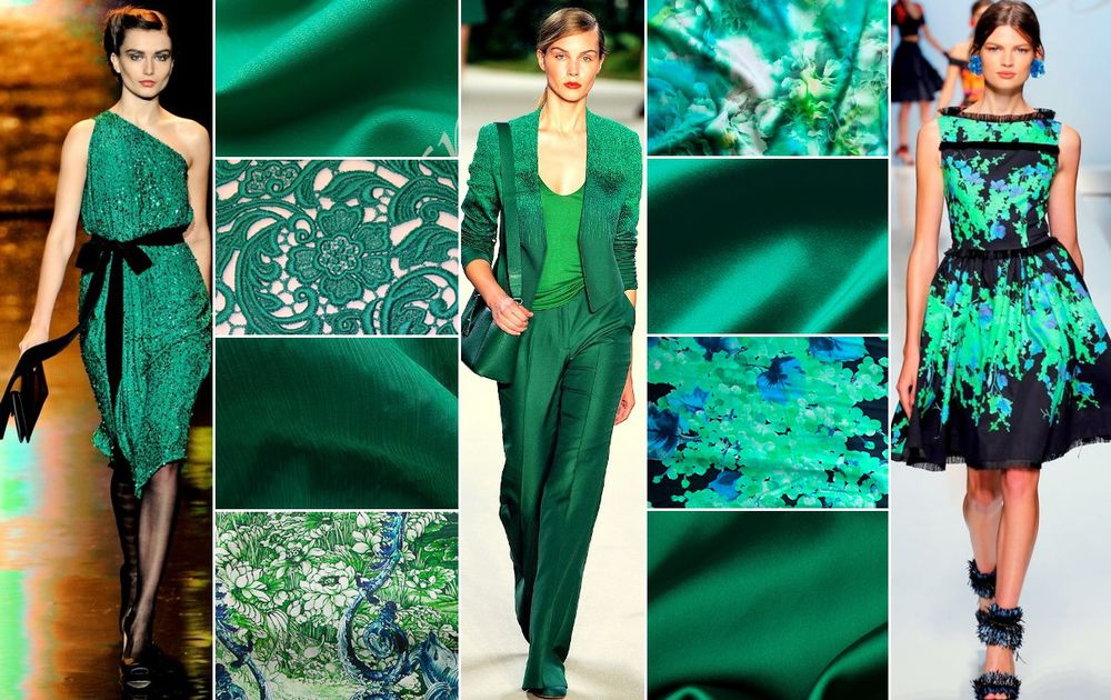 изумрудный, шелк натуральный, цветочный принт, натуральные ткани, роскошный цвет