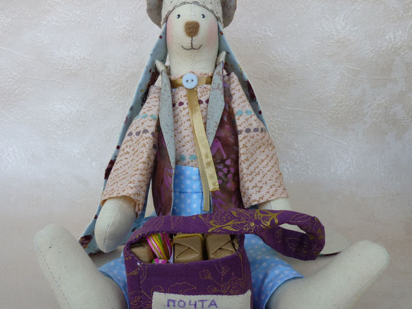 Кролик почтальон | Ярмарка Мастеров - ручная работа, handmade