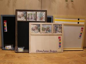 Магнитно грифельные доски и меловые доски (Доски для рисования и записей).   Ярмарка Мастеров - ручная работа, handmade