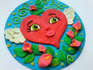 Делаем с ребенком сувенир из пластилина ко Дню святого Валентина. Ярмарка Мастеров - ручная работа, handmade.