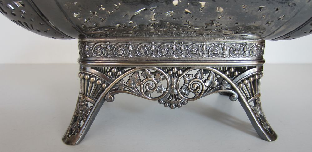 серебро, викторианский период, ваза для сладостей