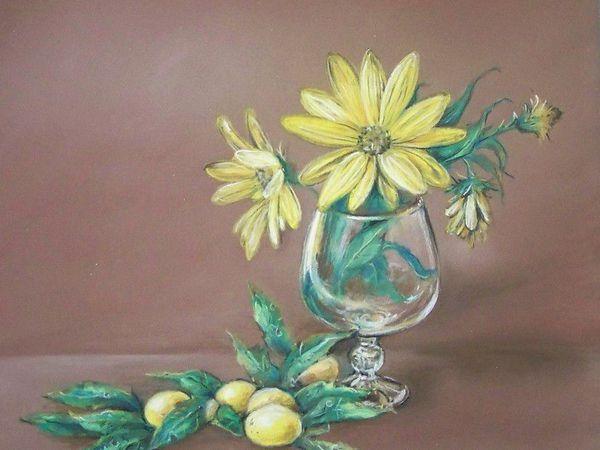 Рисуем натюрморт с цветами сухой пастелью | Ярмарка Мастеров - ручная работа, handmade