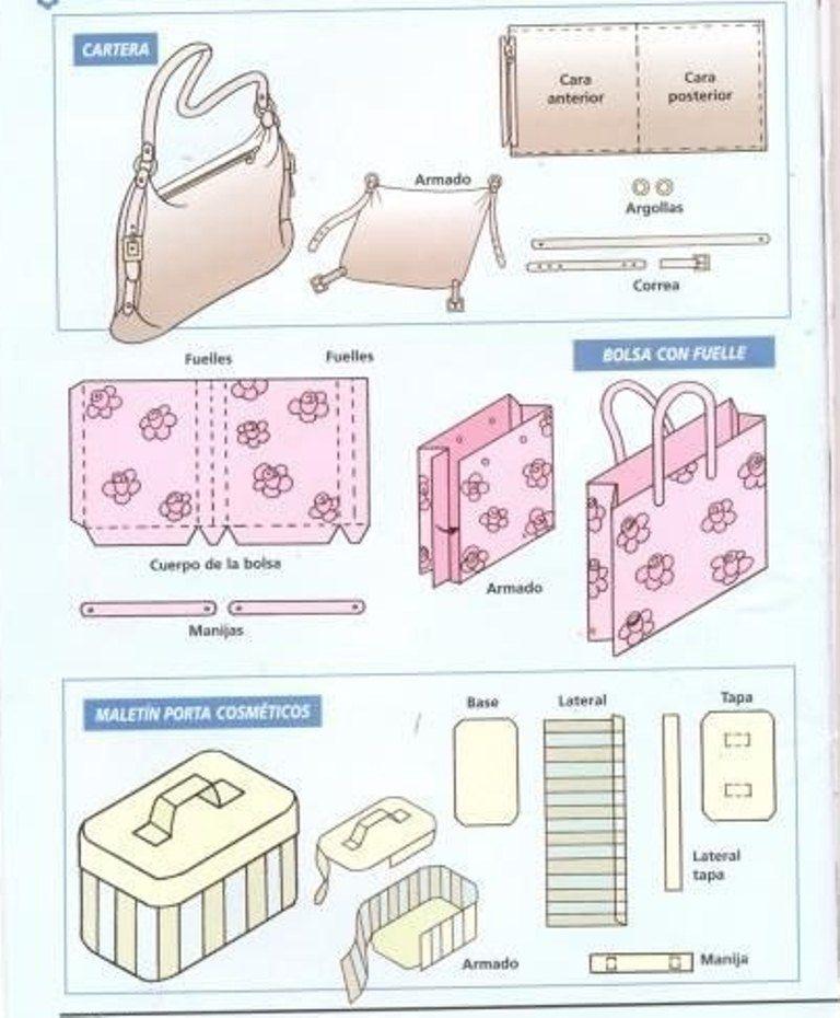 Как сделать кукольный портфель маленький из бумаги