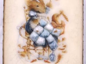 Видео мастер-класс по декупажу: процесс преображения шкатулки «Маленькая мышка». Часть 5: двухшаговый кракелюрный лак. Ярмарка Мастеров - ручная работа, handmade.