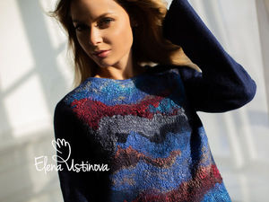 Авторское платье валяное  «Blue». Ярмарка Мастеров - ручная работа, handmade.