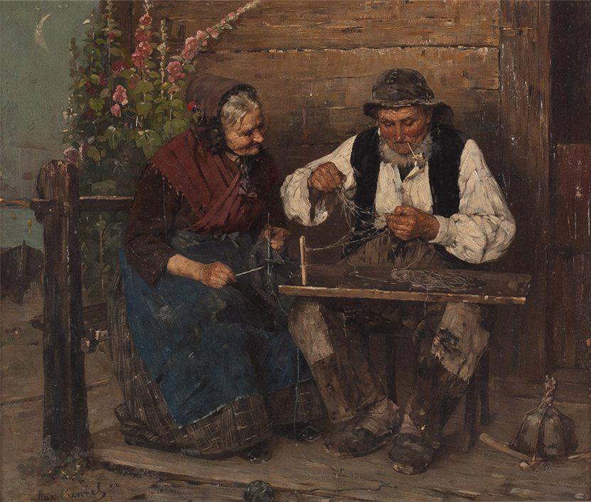 Когда есть чем заняться — стареть некогда: душевные картины о бабушках-рукодельницах, фото № 68