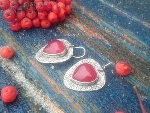 Скидка на сережки с сердцами к дню святого Валентина. Ярмарка Мастеров - ручная работа, handmade.