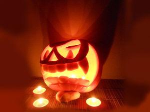Вырезаем на Хэллоуин тыкву-подсвечник «Мистер Джек». Ярмарка Мастеров - ручная работа, handmade.