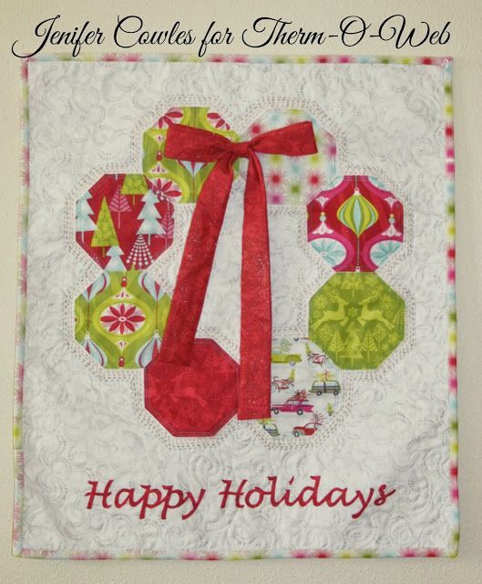 Happy Holidays Wall hanging-Tutorial