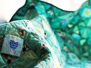 Создаем лоскутный плед «Рыбы — жители воды». Ярмарка Мастеров - ручная работа, handmade.