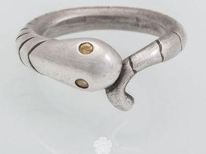 Изготавливаем змейку из пластичного серебра. Ярмарка Мастеров - ручная работа, handmade.