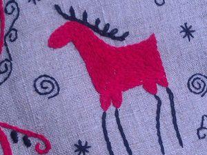 Новинка! Рождественский носок в русском стиле Северный олень!. Ярмарка Мастеров - ручная работа, handmade.