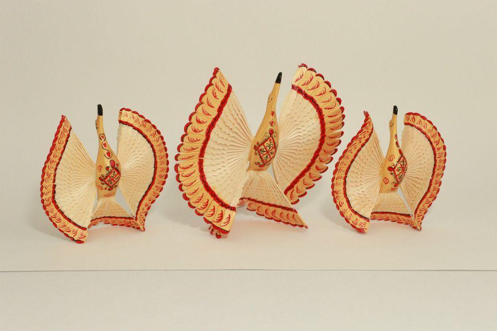 птица счастья, русский сувенир, деревянная игрушка, мезень, свадебный подарок