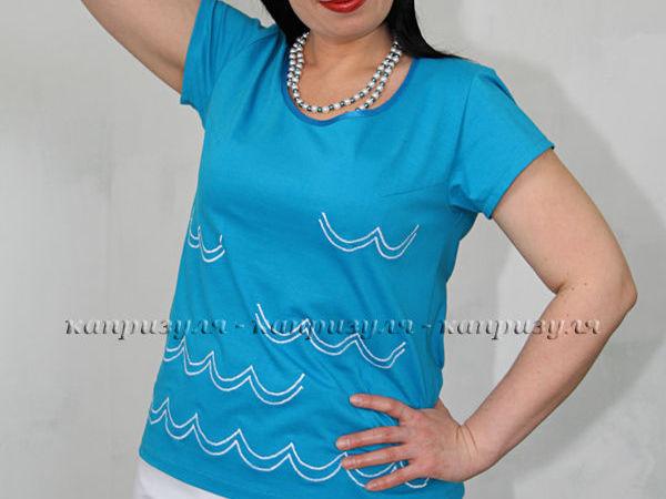 Украшаем женскую кофту простой вышивкой | Ярмарка Мастеров - ручная работа, handmade