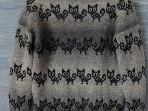 Вяжем жаккардовый свитер по кругу. Вторая часть. Ярмарка Мастеров - ручная работа, handmade.