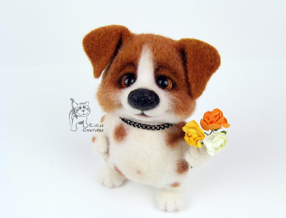 валяная игрушка, оригинальный щенок