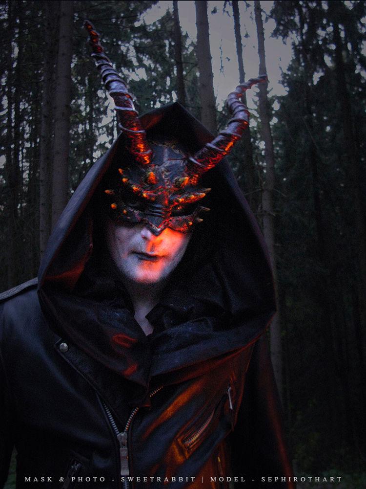 дьявол, огонь, черный