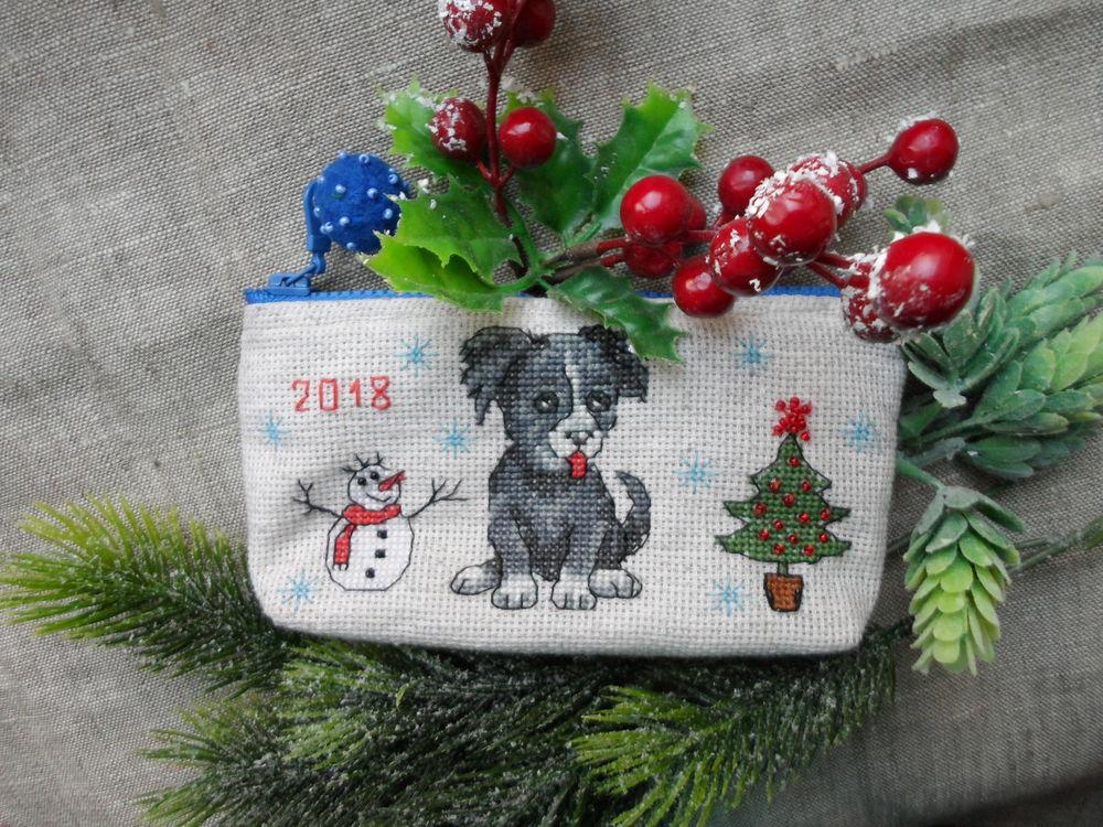 подарок к новому году, очечник из фетра, новогодние подарки