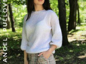 МК по вязанию пуловера Angel. Ярмарка Мастеров - ручная работа, handmade.