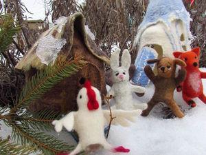 Пальчиковый театр к сказке Лиса , заяц и петушок.. Ярмарка Мастеров - ручная работа, handmade.