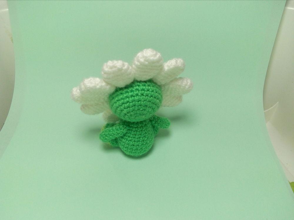 вязаный цветок, цветик семицветик, растение