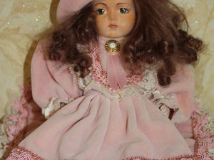Накрутить парик из козьей шерсти для куклы. Ярмарка Мастеров - ручная работа, handmade.